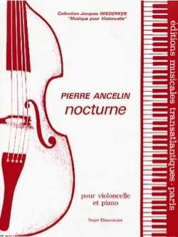 Nocturne Pierre Ancelin Partition Violoncelle - laflutedepan