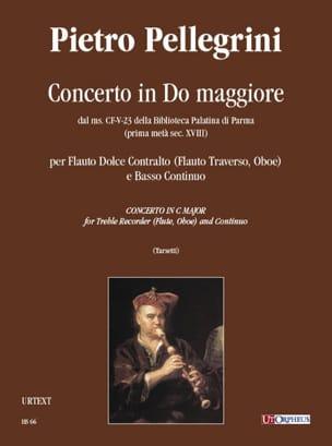 Pietro Pellegrini - Concerto in do maggiore - Partition - di-arezzo.fr