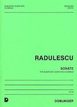 Sonate - Michael Radulescu - Partition - laflutedepan.com