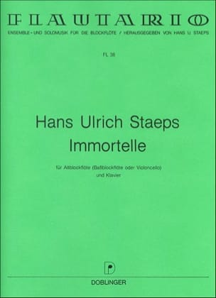 Hans Ulrich Staeps - Immortelle - Partition - di-arezzo.fr