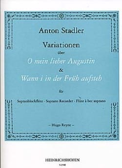 Variationen -Sopranblockflöte Anton Stadler Partition laflutedepan