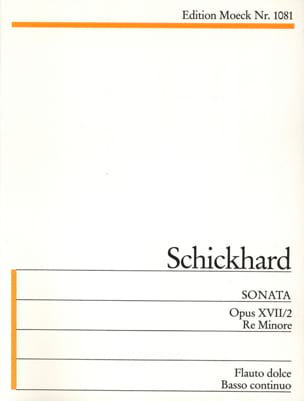Johann Christian Schickhard - Sonata d-moll op. 17 n° 2 - Partition - di-arezzo.fr