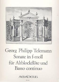 Sonate in f-moll - Altblockflöte u. Bc - TELEMANN - laflutedepan.com
