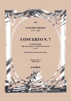 Luigi Boccherini - Concerto n° 7, ré majeur G. 476 - Partition - di-arezzo.fr