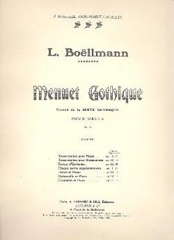 Léon Boëllmann - Menuet gothique - Partition - di-arezzo.fr