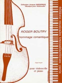 Hommage romantique - Roger Boutry - Partition - laflutedepan.com
