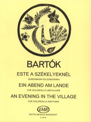 BARTOK - Ein Abend am Lande - Cello - Sheet Music - di-arezzo.com