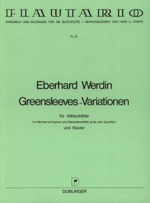 Eberhard Werdin - Greensleeves-Variationen - Altblockflöte - Sheet Music - di-arezzo.co.uk