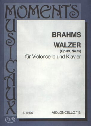 BRAHMS - Valse op. 39 n° 15 - Partition - di-arezzo.fr