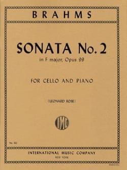 Sonate n° 2 en fa majeur op. 99 - BRAHMS - laflutedepan.com