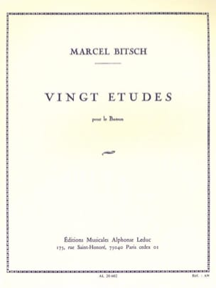 Marcel Bitsch - 20 Etudes - for bassoon - Sheet Music - di-arezzo.co.uk