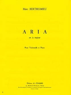 Marc Berthomieu - Aria - Sheet Music - di-arezzo.co.uk