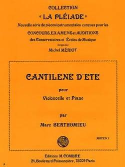 Marc Berthomieu - Cantilene summer - Sheet Music - di-arezzo.co.uk