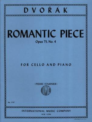 Antonin Dvorak - Pièce Romantique op. 75 n° 4 - Partition - di-arezzo.fr