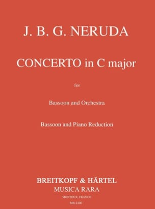 Johann Baptist Georg Neruda - Concerto in C major - Bassoon piano - Sheet Music - di-arezzo.com