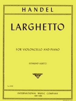 Larghetto - Violoncelle HAENDEL Partition Violoncelle - laflutedepan