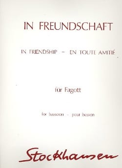 In Freundschaft - Fagott STOCKHAUSEN Partition Basson - laflutedepan