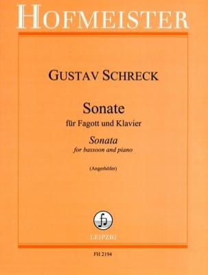 Gustav Schreck - Sonate - Fagott Klavier - Sheet Music - di-arezzo.co.uk