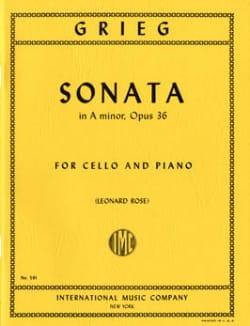 Sonate en la mineur, op.36 - Cello GRIEG Partition laflutedepan