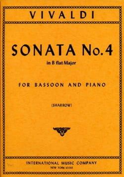 Sonate n° 4 B flat major RV 45 VIVALDI Partition Basson - laflutedepan