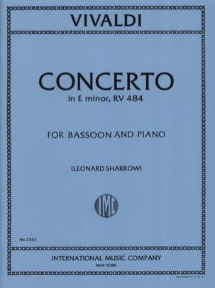 VIVALDI - Concerto F. 8 No. 6 RV 484 in E minor - Sheet Music - di-arezzo.co.uk