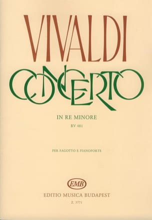 Concerto F. 8 n° 5 RV 481 in re minore VIVALDI Partition laflutedepan