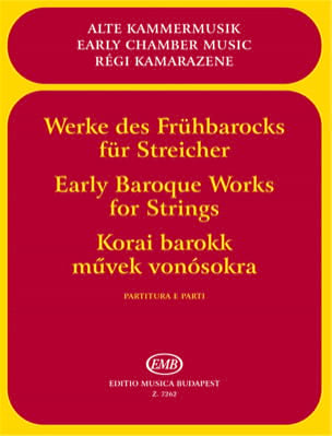 Mariassy Istvan / Vigh Lajos - Early Baroque Works for Strings - Partition - di-arezzo.fr