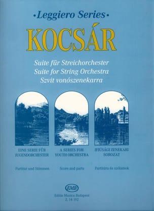 Suite for String Orchestra Miklos Kocsar Partition laflutedepan