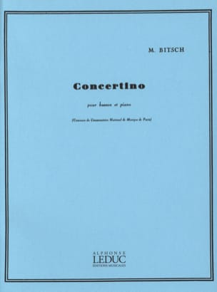 Marcel Bitsch - Concertino for bassoon - Sheet Music - di-arezzo.com