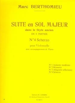 Marc Berthomieu - Scherzo : n°4 de la Suite en sol majeur - Partition - di-arezzo.fr