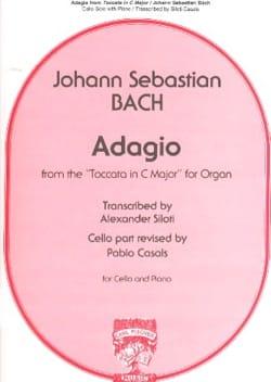 Adagio BACH Partition Violoncelle - laflutedepan