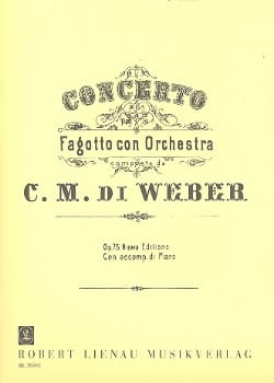 Carl Maria von Weber - Concerto op. 75 per Fagotto - Partition - di-arezzo.fr