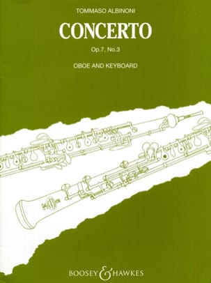 Tomaso Albinoni - Concerto per oboe op. 7 n ° 3 - Sheet Music - di-arezzo.co.uk