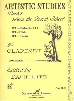 David Hite - Artistic studies - Volume 1 : from the french School - Partition - di-arezzo.fr