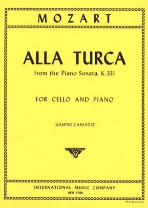 Alla Turca from Piano Sonata KV 331 - MOZART - laflutedepan.com