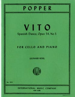 Vito op. 54 n° 5 - David Popper - Partition - laflutedepan.com