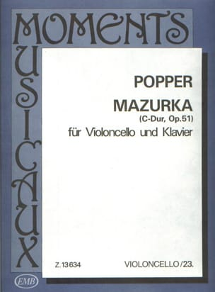 Mazurka C-Dur op. 51 - David Popper - Partition - laflutedepan.com