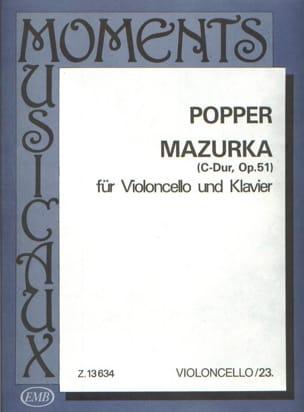Mazurka C-Dur op. 51 David Popper Partition Violoncelle - laflutedepan