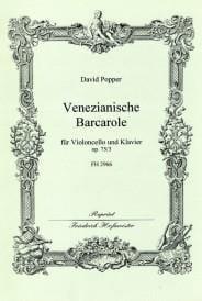 Barcarole vénitienne op. 75 n° 3 - David Popper - laflutedepan.com