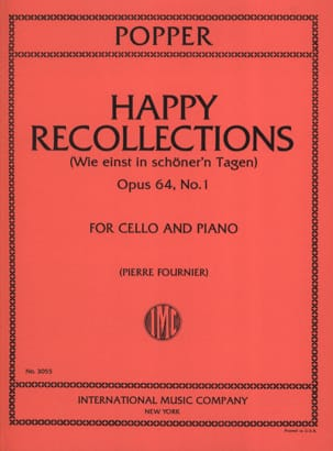 Happy Recollections op. 64 n° 1 David Popper Partition laflutedepan