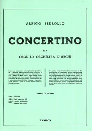 Arrigo Pedrollo - Concertino - Hautbois et Piano (Réduction) - Partition - di-arezzo.fr