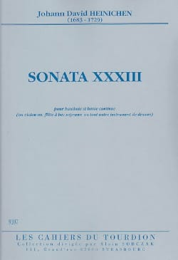 Johann D. Heinichen - Sonata No. 33 - Oboe and BC - Sheet Music - di-arezzo.co.uk