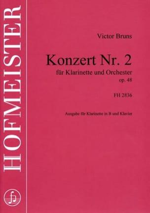 Victor Bruns - Konzert Nr. 2 für Klarinette op. 48 - Partition - di-arezzo.fr