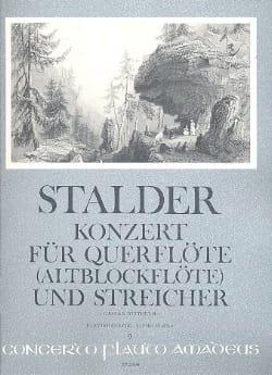 Joseph Stalder - Konzert für Flöte Altblockflöte -Flöte Klavier - Partition - di-arezzo.fr