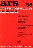 Konzert D-Dur - Flöte Klavier STAMITZ Partition laflutedepan