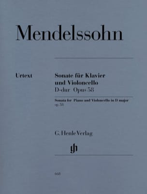MENDELSSOHN - Cello Sonata in D major op. 58 - Sheet Music - di-arezzo.co.uk