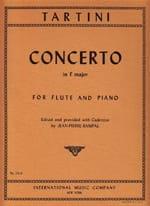 Giuseppe Tartini - Concerto En Fa M. - Flûte et Piano - Partition - di-arezzo.fr