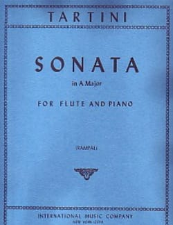 Sonata in A major - Flute piano TARTINI Partition laflutedepan