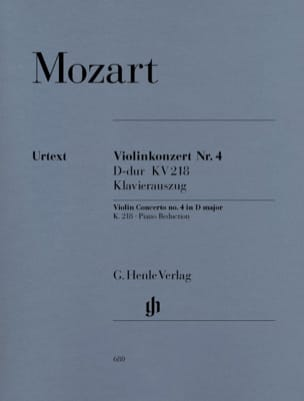 MOZART - Violin Concerto No. 4 in D major K. 218 - Sheet Music - di-arezzo.com
