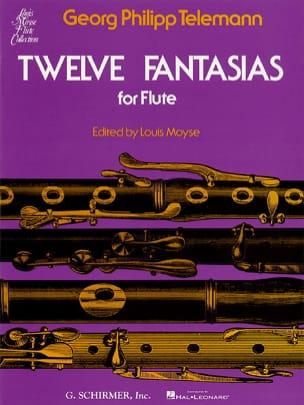 TELEMANN - 12 Fantasias - Flute Solo - Partition - di-arezzo.fr
